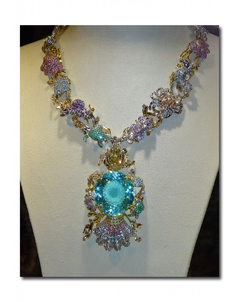 Paraiba Star of the Ocean Necklace